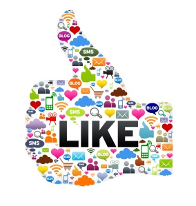 Social media gets the thumbs up for social influence (source: mombizcoach.com)